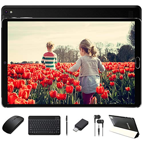 GOODTEL Tablet 10 Pollici Android 10.0 Pro, Tablets Android con Processore 8 Core 1.6GHz 4GB RAM+64GB ROM / Doppia Fotocamera / WiFi / Bluetooth / GPS / MicroSD 4-128GB, con Tastiera Bluetooth e Mouse