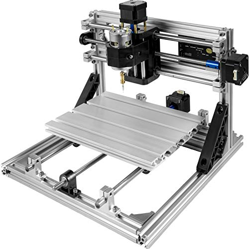 Mophorn CNC 2418 CNC Machine GRBL Control CNC Router Kit 3 Axis with Offline Controller Goggles and Table Lamps Milling...