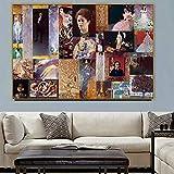 sanzangtang Pintura sin Marco Viejo Maestro, Pintor Famoso, Retrato de Mujer, arteZGQ1585 30X45cm