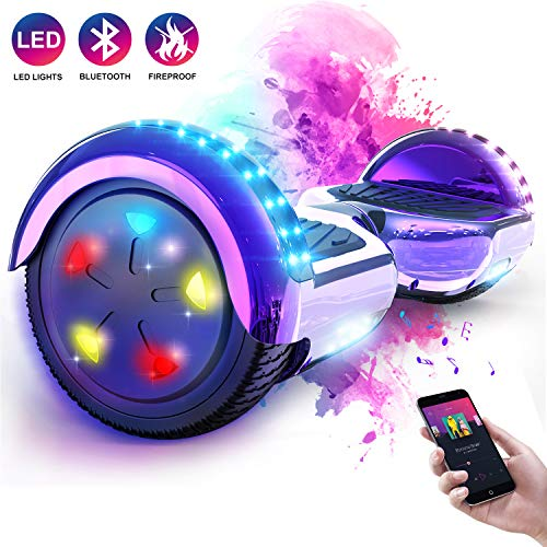 "Hoverboard, Self Balance Scooter Elettrico, Balance scooter con LED, Due Ruote 6.5"", Batteria inclusa"