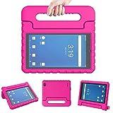 LTROP Onn 7 Inch Tablet Case, Surf Onn 7 Tablet Case, Shockproof Handle Stand Child Proof Case for Walmart Onn 7' Tablet Android 2020/ 2019 (Model: 100005206/100015685) - Pink