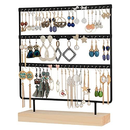 Organizador de joyas para pendientes y collares sostenedor de joyería de escritorio colgante