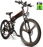 MQJ Ebikes 26 Pulgada Plegable Eléctrico Bicicleta Asistencia Eléctrica Bicicleta Conjunta Rim Scooter 48V 10Ah 350W Motor Mountain E-Bike Masculino Y Mujer/Adulto Viajes