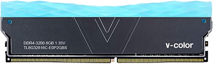 V-Color Prism II RGB 8GB (1 x 8GB) DDR4 3200MHz (PC4-25600) CL16 1.35V Desktop Memory –Blue (TL8G32816C-E0P2GBS)