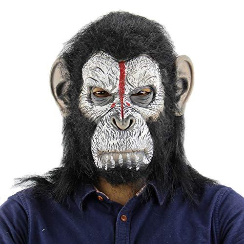Koning Kong Planet Van De Apen Gorilla Masker Hood Aap Latex Dieren Maskers Bloed Enge Halloween Dier Volwassen Aap Hoofd Masker