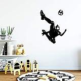 AGjDF Fußball Kunst Aufkleber Wasserdichter Wandaufkleber Wandtattoo Wanddekor Wandbild 28x35cm