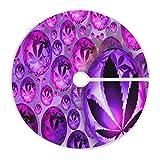 LORONA Purple Weed - Falda para árbol de Navidad (47 pulgadas, para decoración de Navidad, decoración de interiores, al aire libre, vacaciones, fiestas, adornos para el hogar
