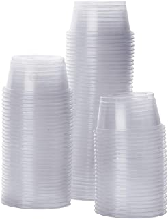 SunGrow أبو بريص الأغذية وحاويات الماء، قابلة لإعادة الاستخدام، إعادة التدوير، لا يعاد الكؤوس، و 0.5 أوقية القدرات أطباق ب...