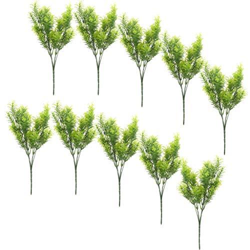 Baoblaze 10x Artificial 30cm Plastic Cedar Tree Realistic Conifer Tree Decorative