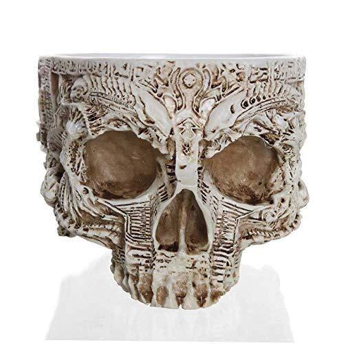 YAeele Envío de la Gota de la Maceta talladas Mano Cráneo Tiesto Tazón Inicio Jardín Decoración de Halloween
