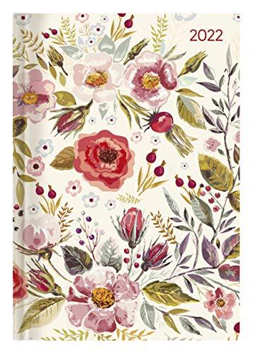 Buchkalender Style Flower Field 2022 - Büro-Kalender A5 - Cheftimer - 1 Tag 1 Seite - 352 Seiten - Blume - Alpha Edition