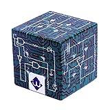 Jiahe Würfel 3X3x3 Zauberwürfel Puzzle Spielzeug Blind Fingerprint Stereo Würfel 3D Geprägte Persönlichkeit Würfel Schaltung Lernen Geprägte Würfel -
