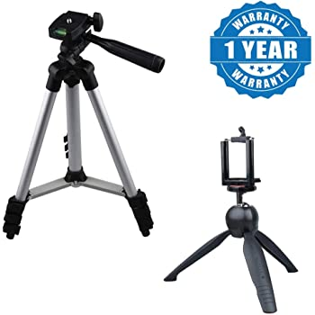 Cospex Lightweight Mini 228 Tripod Stand with 3110 Universal Aluminum Portable Digital Camera Tripod Stand