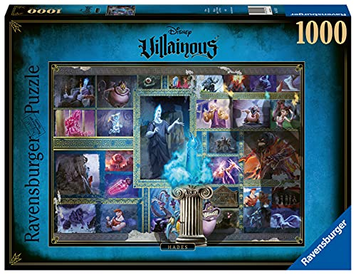 Ravensburger Disney Villainous: Hades 1000 Piece Jigsaw Puzzle for Adults - Every Piece is Unique, Softclick Technology Means Pieces Fit Together Perfectly