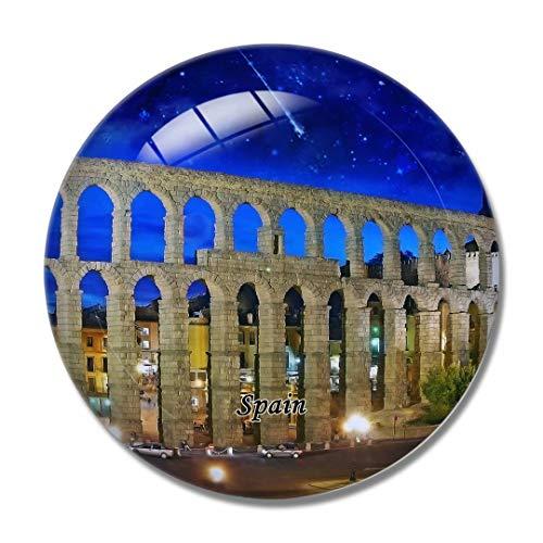 'N/A' España Imán España Acueducto de Segovia Imán de Nevera 3D Artesanía Recuerdo Cristal Refrigerador Imanes Colección Regalo de Viaje