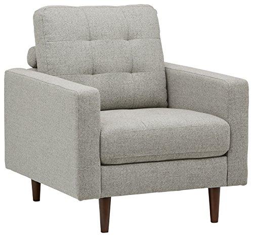 Marchio Amazon -Rivet, sedia trapuntata modello Cove, stile mid-century, colore grigio chiaro