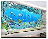 Fotomural Grande 3D Wallpapers Custom Hd Large Underwater World Coral Hole Sala De Estar De Fondo Tv Fondo De Pantalla De Un Acuario Promocional, 200Cmx140Cm