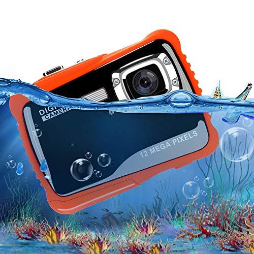 DJG wasserdichte Digitalkamera 3 Meter Unterwasser-Schwimmen HD Pixel Fotografie Mini-Cartoon-Kamera Kinder,Schwarz