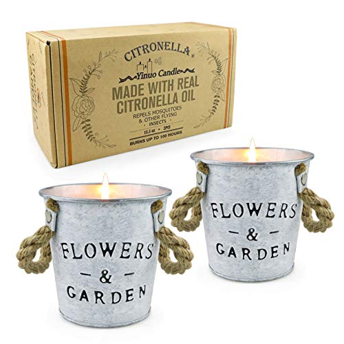 YMing Citronella Candles Outdoors, 800g Large Scented Candles 100% Soy Wax for Bedroom Kitchen Garden Patio Balcony Indoor Outdoor, Long Lasting 100 hours, 7% Citronella oil