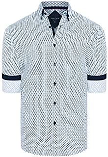 Tarocash Men's Winx Slim Print Shirt Slim Fit Long Sleeve Sizes XS-5XL for Going Out Smart Occasionwear