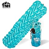 TNH Outdoors Lightweight Compact Sleeping Pad with Dual Baffle System and Superior Insulation Excellent for Hiking & Camping Heavy Duty and Durable Outer Skin