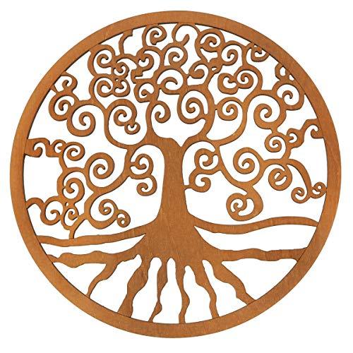 Spruchreif PREMIUM QUALITÄT 100{edbfb9aa78dfef08489ef72f95ef0e1fdd9891c87d0f94b1871dc1130432e11f} EMOTIONAL · Baum des Lebens aus Holz · Wanddeko · Lebensbaum Symbol · Esoterik Geschenke · Deko · Wanddekoration · Holzdeko · Spiritualität (Ø 30 cm)