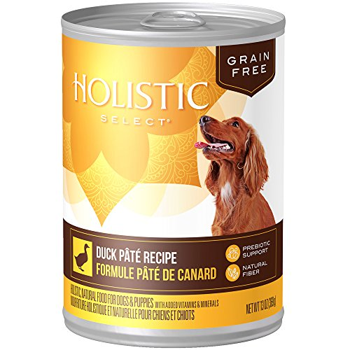 Holistic Select Natural Wet Grain Free Canned Dog Food, Duck Pâté Recipe, 13-Ounce Can (Pack Of 12)