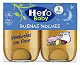 Hero Baby Buenas Noches Noches Verduritas con Pavo - 2 x 190 gr [ Pack de 6] - Total: 2280 gr