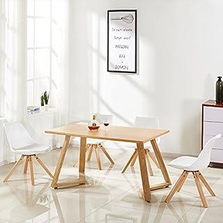 Designetsamaison Table à Manger rectangulaire scandinave Bois - Trevi
