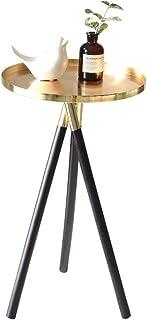 北欧クリエイティブソファサイドテーブルゴールドトレイテーブルコーヒースナックテーブルリビングルーム家具エンドテーブルモーデンディスプレイラック木製脚