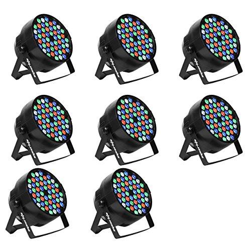 Eyourlife LED Stage Lights 8pcs 54X3W LED DJ PAR Light RGBW 162Watt DMX 512 Stage Lighting Disco Projector for Home Wedding Party Church Concert Dance Floor Lighting