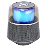 HXHLZY Pequeño Altavoz Bluetooth Altavoces portátiles Ligeros Altavoz estéreo bajo Caja de Sonido al Aire Libre (Color : Gray)