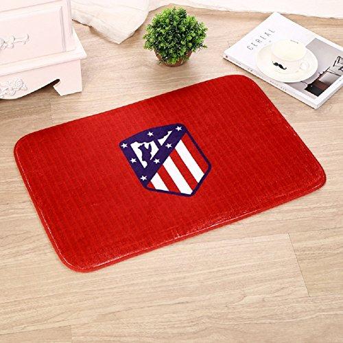 VIOY Flannel Teppich Druck dicken Schwamm Schwamm türmatte fußmatte fußball Team Matte,Atletico Madrid,Einheitsgröße