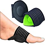 Ailaka 2 Pair Compression Cushioned Arch Support Brace, Plantar Fasciitis Sleeves for Pain Relief & Sore, Flat Feet, Heel Spurs