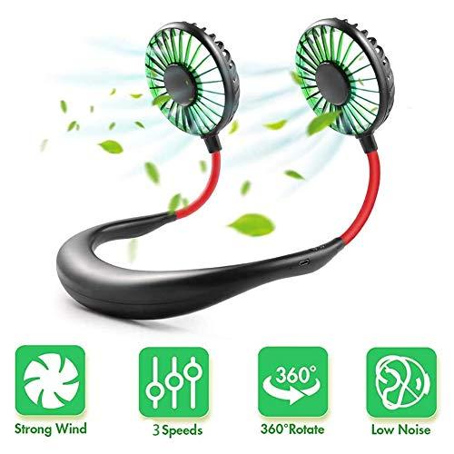 Hängender Nackenventilator, USB Micro Tragbar, 2 in 1 Air Cooler Mini Elektrische Klimaanlage Schal Kühlen Tragbarer Hängender Nackenventilator, Luftkühler, USB Hängende Nacken-Klimagerät