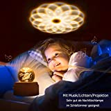 DUTISON Kristallkugel Spieluhr, 360° Rotierende hölzerne Spieluhr mit Licht, Beleuchtete Projektionsfunktion, Geschenk für Weihnachten, Erntedankfest, Geburtstag - 2