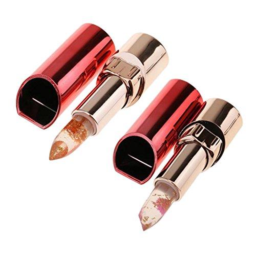 2 Stü Blumengelee Lippenstiftes Magische Farbe Temperaturänderung Lippenstift