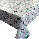 d-c-fix Wachstuch Wachstischdecke Tischdecke Gartentischdecke Schneemann Weiß Weihnachten Breite & Länge wählbar 80 x 80 cm Eckig abwaschbar Lebensmittelecht