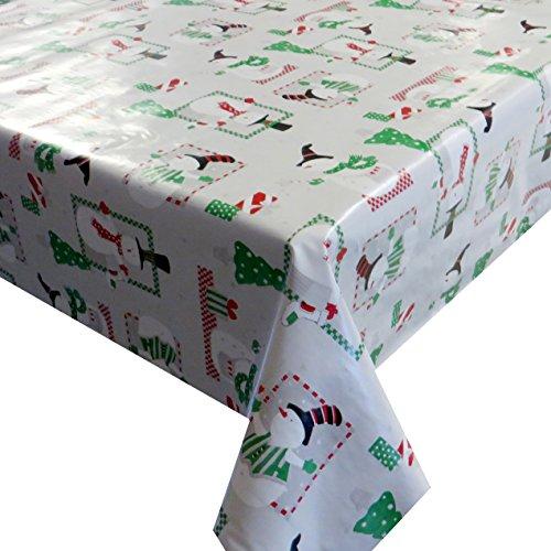 d-c-fix Wachstuch Wachstischdecke Tischdecke Gartentischdecke Schneemann Weiß Weihnachten Breite & Länge wählbar 120 x 80 cm Eckig abwaschbar Lebensmittelecht