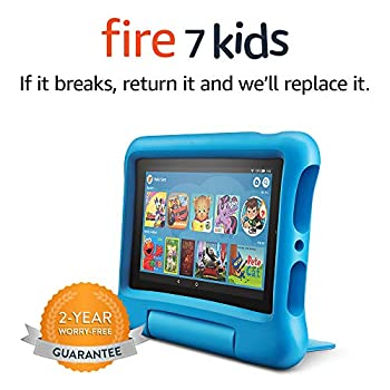 Fire 7 Kids Tablet 7  Display ages 3-7 16 GB Blue Kid-Proof Case