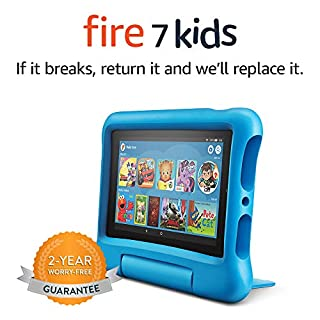 """Fire 7 Kids Tablet, 7"""" Display, ages 3-7, 16 GB, Blue Kid-Proof Case (B07H8WS1FT)   Amazon price tracker / tracking, Amazon price history charts, Amazon price watches, Amazon price drop alerts"""