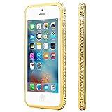 Roar Handy-Hülle für iPhone 6 / 6S, Glitzer Hülle Rahmen Schutzhülle Handyrahmen mit Strass Steinchen - Champagner Gold