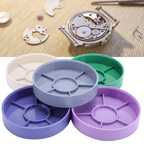 Contenedor de piezas de reloj compacto de 5 capas, para personal de mantenimiento de relojes