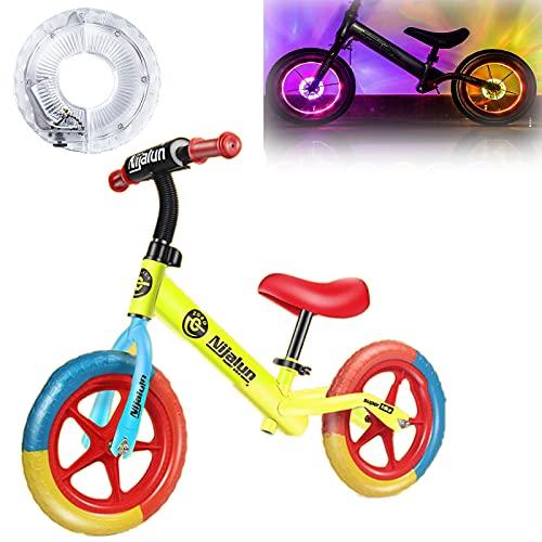 Hmpet Bici Sin Pedales Niño 2 Años,Bicicleta Niña 3 Años,con Luces de Neumáticos,Extraíbles de Asiento Regulable 35-45CM Niños,Juguetes para Niños de 2 A 5 Años,Amarillo
