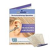 Headache & Migraines Ear Seed Kit- 120 Ear Seeds, Stainless Steel Tweezer