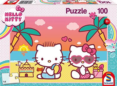Badespaß mit Kitty. Puzzle 100 Teile: Kinderpuzzle Hello Kitty, 100 Teile