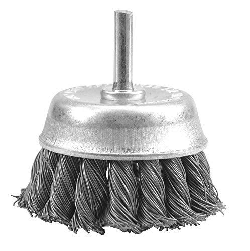 Vorel 06994–Bürste mit tasse, 75mm Achse, geflochtenem Kabel