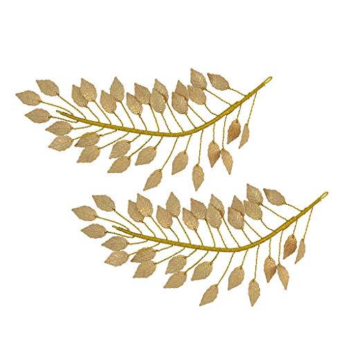 Baoblaze 2 Pcs Branche De Cheveux De Mariée Couronne De Cheveux De Mariage