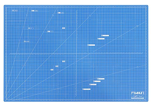 Dahle Schneidematte A1 (60 x 90 cm, selbstheilend, beidseitig nutzbar, mit Raster) blau