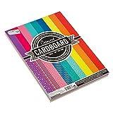 CraftSensations Carta colorata DIN A4, 220 g, 72 fogli in 9 colori e motivi, adatta per stampanti e lavori fai da te, per hobby, artigianato, stampe, scuola, decorazioni e regali
